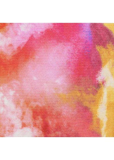 Bas scrunch tie dye rouge/orange bords ondulés - BOTTOM TIEDYE-RED FRUFRU