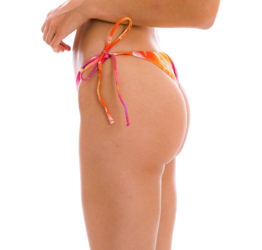 Tie-dye red / orange side-tie bikini bottom - BOTTOM TIEDYE-RED IBIZA