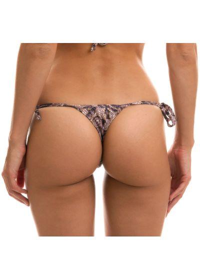 Purple lace print thong bikini bottom - BOTTOM TRI MICRO FLOWER PURPLE