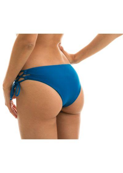 Blue laced larger-side bikini bottom - BOTTOM TURQUIA RETO
