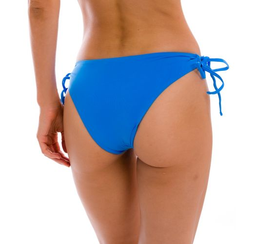 Blue Brazilian bikini bottom with double sides tie - BOTTOM UV-ENSEADA MADRID