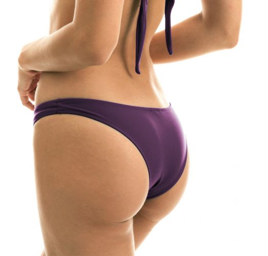 Iridescent purple high-leg bikini bottom - BOTTOM VIENA BANDEAU