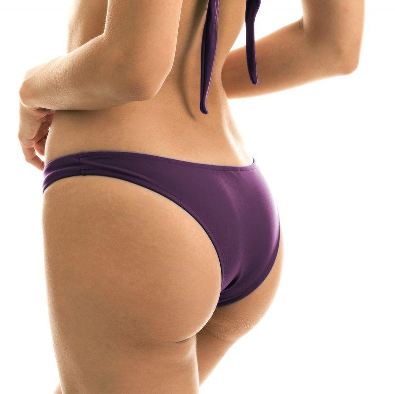 Iridescent purple high-leg bikini bottom - BOTTOM VIENA BANDEAU