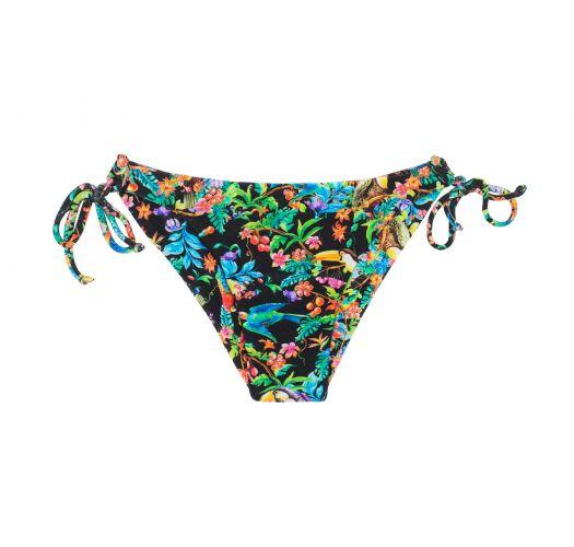 Geblümte Bikinihose mit Seitenschnüren - CALCINHA  REALITY FLOWER BALCONET