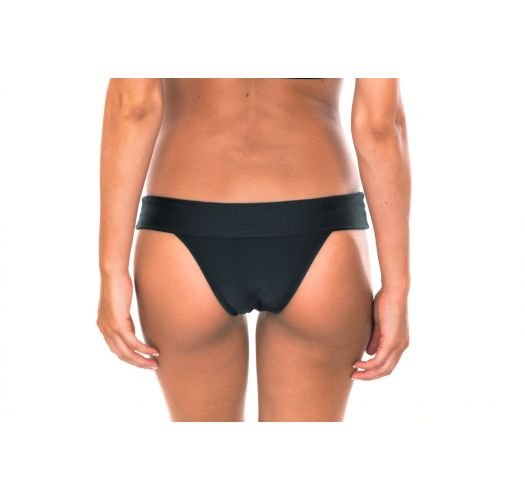 Bas de bikini brésilien fixe, noir uni - CALCINHA ALL BLACK