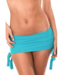 Blå Brazilian bikini med kjolaktig nedredel - CALCINHA AMBRA JUPE NANNAI