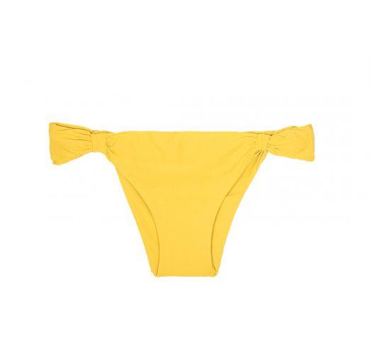 Sliding yellow scrunch bikini bottom - CALCINHA AMBRA MEL MELON