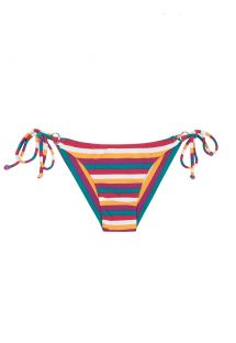 Colourful striped Brazilian bikini bottom - CALCINHA BEIRA RIO CHEEKY