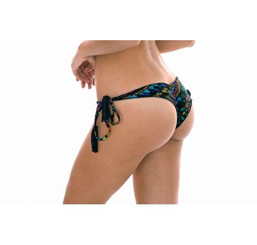 Scrunch-Bikinihose, Motive, gewellte Ränder - CALCINHA BORDADO FRUFRU