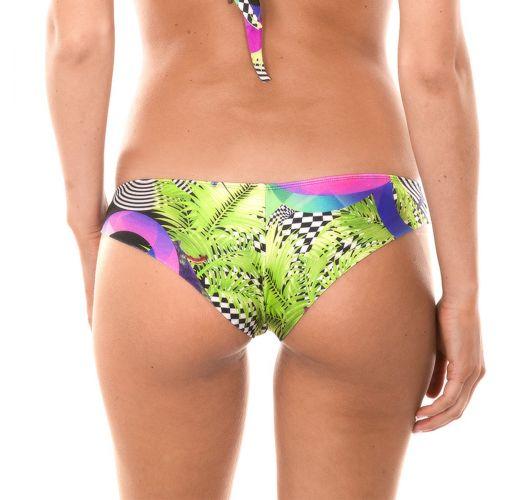 Sportig brasiliansk nederdel med geometriskt tryck - CALCINHA BOSSA BANDEAU