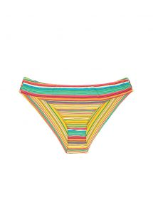 Colourful striped Brazilian swimsuit bottom - CALCINHA CANARINHO SPORTY