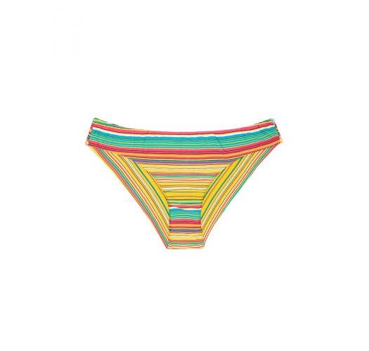 Bas de maillot brésilien à rayures colorées - CALCINHA CANARINHO SPORTY