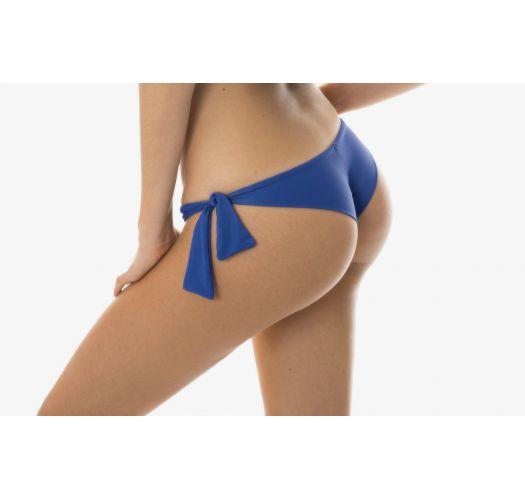 Denim blue Brazilian bottom with side ties - CALCINHA DENIM BABADO
