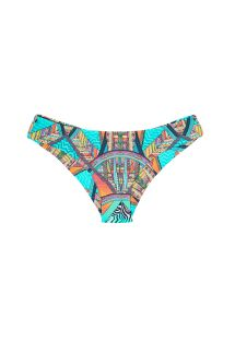 Colour print surf-style fixed bikini bottom - CALCINHA FRACTAL SPORTY