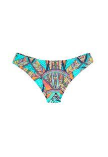 Parte baja de bikini brasileño fija con estampado de colores estilo surf - CALCINHA FRACTAL SPORTY
