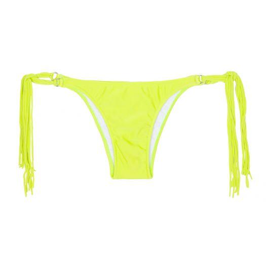 Yellow lime long fringe tanga bikini - CALCINHA FRANJA ACID