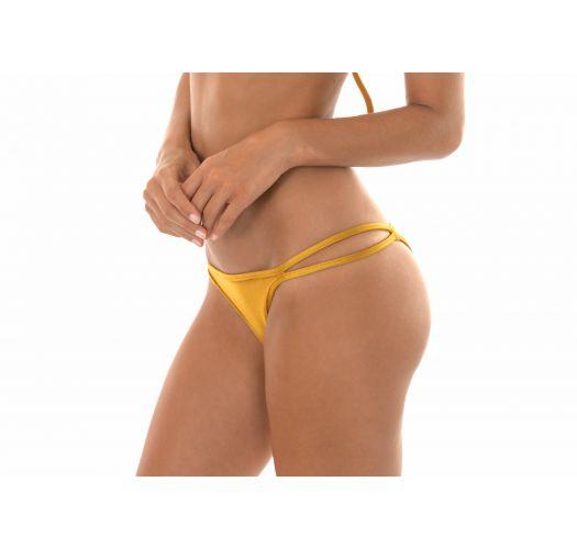 Tanga dorato con laterale doppio - CALCINHA GOLD DUO