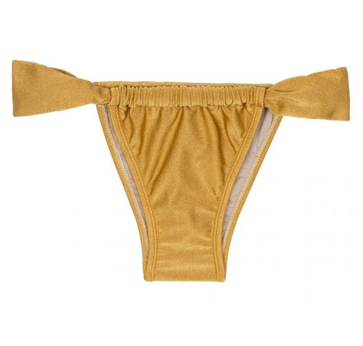 Gold sliding low cut brazilian bikini bottom - CALCINHA GOLD TOMARA QUE CAIA