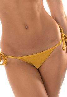 Gold tie-side thong bikini bottoms - CALCINHA GOLD TRI MICRO
