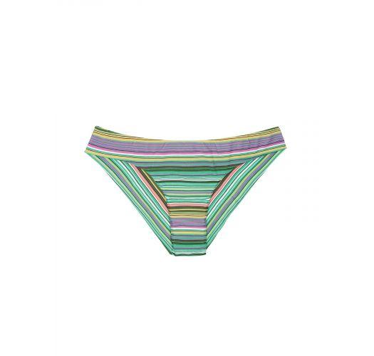 Плавки бикини в бразильском стиле в зелёную полоску - CALCINHA IEMANJA SPORTY