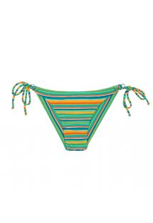 Striped Brazilian bikini bottom with side ties - CALCINHA LEI CHEEKY
