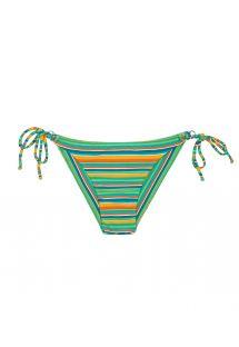 Gestreifte Bikinihose mit breiten Seiten - CALCINHA LEI CHEEKY