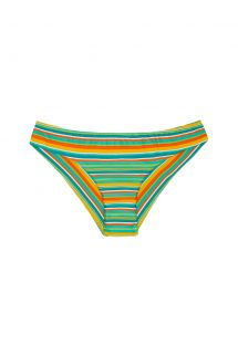 Brazilian bikini bottom with multicoloured stripes - CALCINHA LEI SPORTY