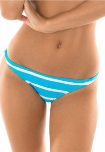 Fixed swimming tanga with blue/white stripes - CALCINHA LISTRAS BRANCOAZUL