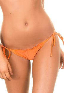 Orange scrunch mini tanga with wavy edges - CALCINHA LULI ORANGE