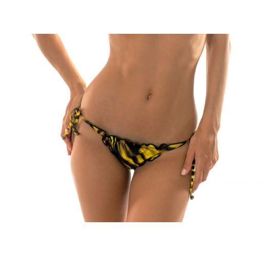 Yellow scrunch bottom with wavy edges - CALCINHA LUXOR FRU FRU