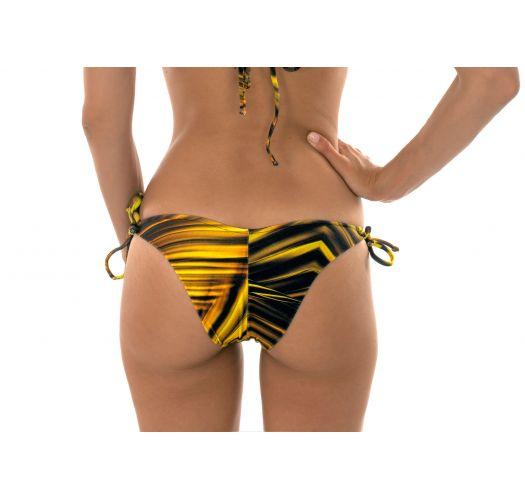 Бразильские плавкив желтый принт на завязках- CALCINHA LUXOR TRI DUO