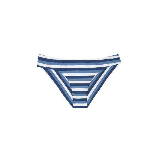 Bas de bikini brésilien bleu/blanc à rayures - CALCINHA MARESIA SPORTY
