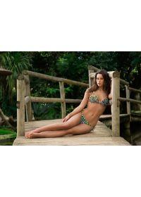 Colourful leopard-pattern Brazilian bikini bottom - CALCINHA MORUMBI