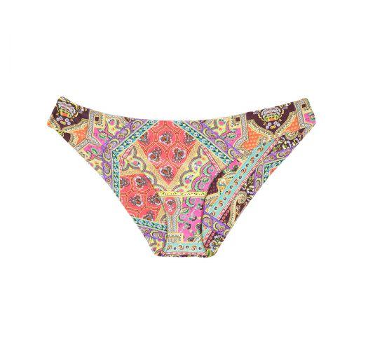 Fixed printed bikini bottom, surf style - CALCINHA MUNDOMIX BANDEAU