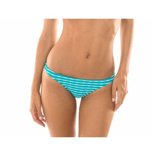Textured green/white swimming tanga - CALCINHA ONDAS AZUL