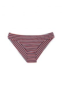 Sports design striped Brazilian bikini bottom - CALCINHA PERNAMBUCO SPORTY