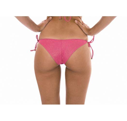 Brasiliansk underdel, rosa lurex og ring-detalj - CALCINHA RADIANTE ROSA ARG TRI