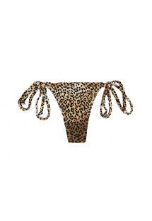 Brune bikinitrusser med g-streng og leopardmønster - CALCINHA SAGATIBA MICRO