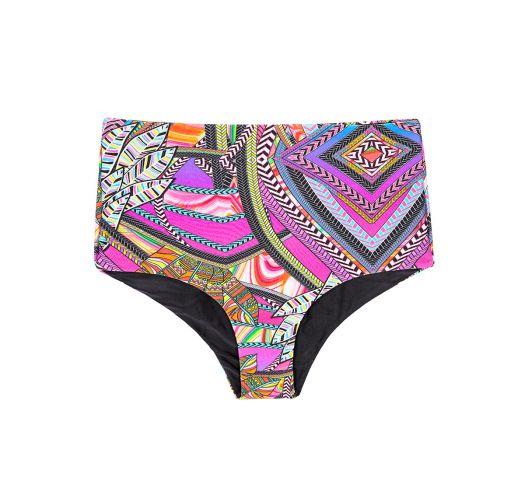 High-waisted multicoloured swimsuit bottoms - CALCINHA SAMARCANDA OFFSHOULDER