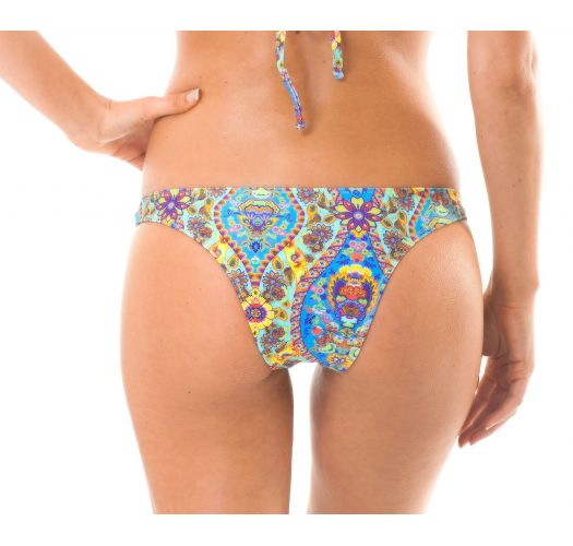 Bathing tanga in vintage-style blue print - CALCINHA SARI COOL NEW