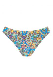 Fixed bikini bottoms with vintage-style print - CALCINHA SARI CROPPED