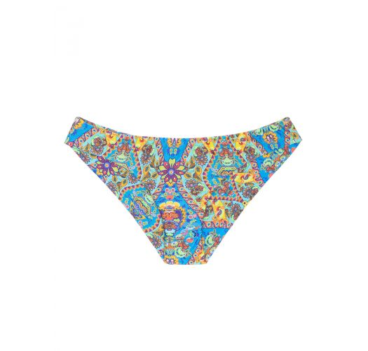 Fixed bikini bottoms with vintage-style print - CALCINHA SARI CROPPED