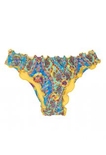 Scrunch bikini bottoms with wavy edges - CALCINHA SARI OFFSHOULDER