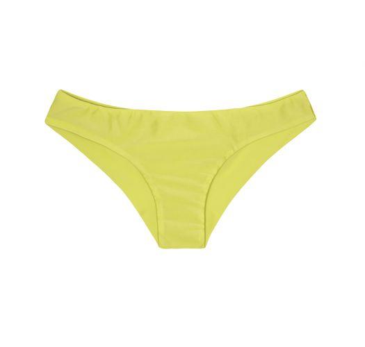 Lime coloured bikini bottom without seams on the back - CALCINHA SPORTY ACID