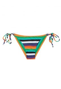 Multicolour striped swimsuit tanga with side ties - CALCINHA TEPEGO CHEEKY