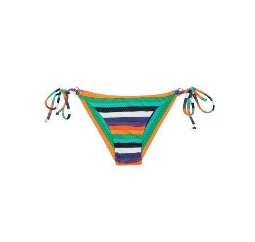 Плавки-танга на завязках в разноцветную полоску - CALCINHA TEPEGO CHEEKY