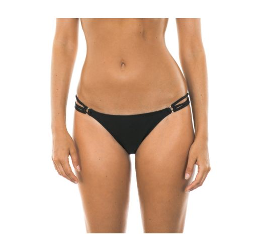 Black multi-strap swimsuit tanga - CALCINHA TIRAS TRIO