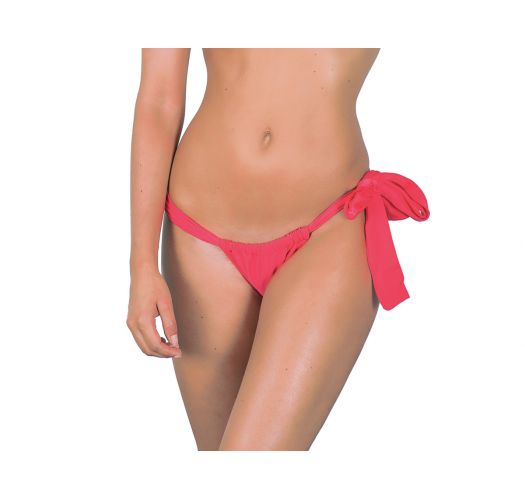 Coral thong bottoms with side knot - FRUTILLY LACE
