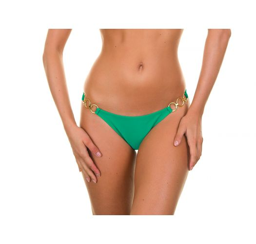 Green bikini bottoms with gold rings - PETERPAN TRIO