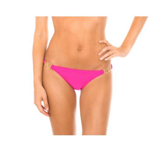 Pink Brazilian bikini briefs with rings - PINK TRIO